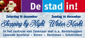 Shopping by Night en Winter Markt